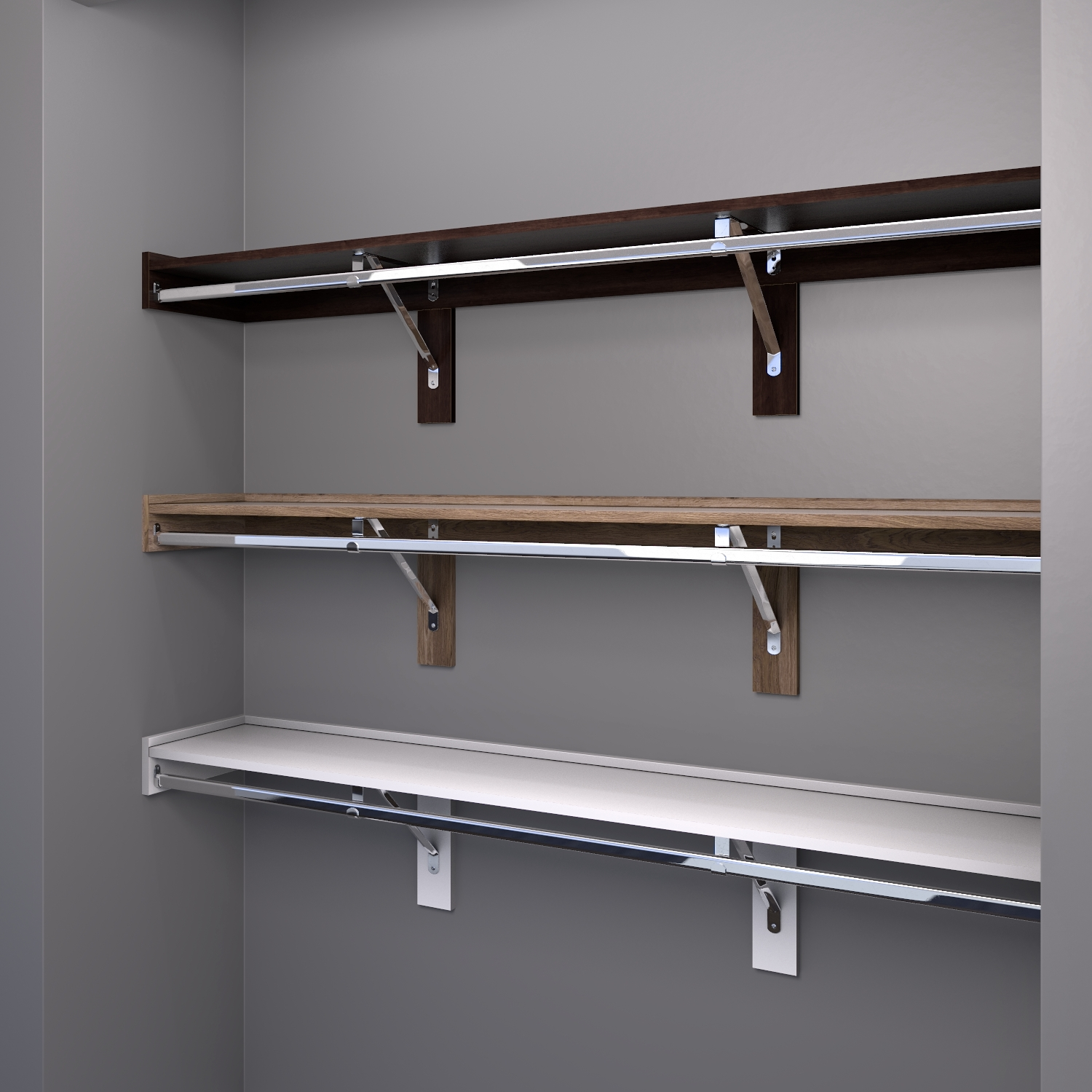 Closet Shelving Finishes